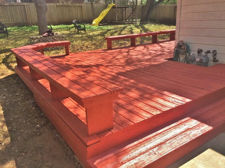 Stained Wooden Deck