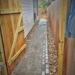 Paver Install and River Rock
